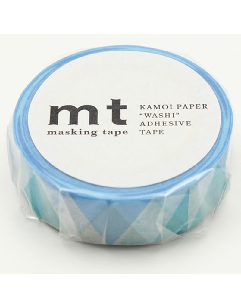 MT masking tape triangle and diamond blue
