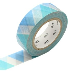 MT  MT masking tape triangle and diamond blue