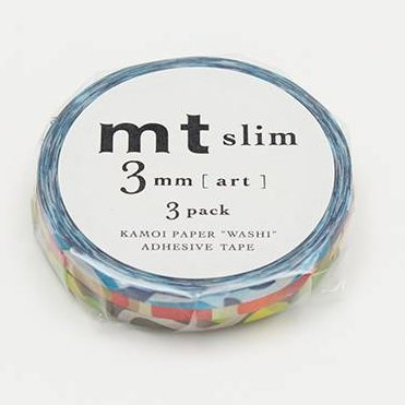 MT masking tape slim set art 3 mm