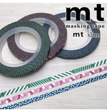 MT masking tape slim set dull tone 3 mm