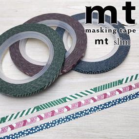 MT masking tape slim set dull tone 3 mm