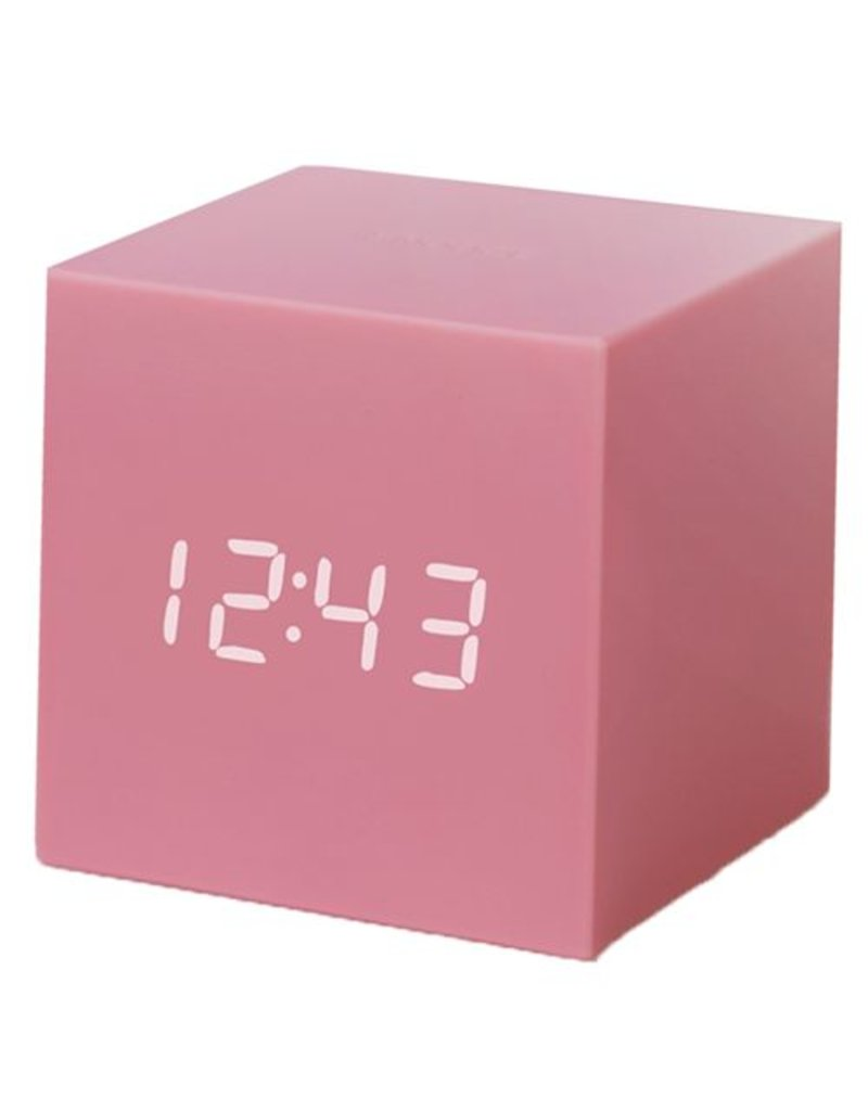 Click Clock cube gravity pink