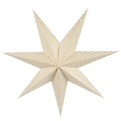 Kerstster pattern gold