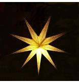 Kerstster groot glitter goud