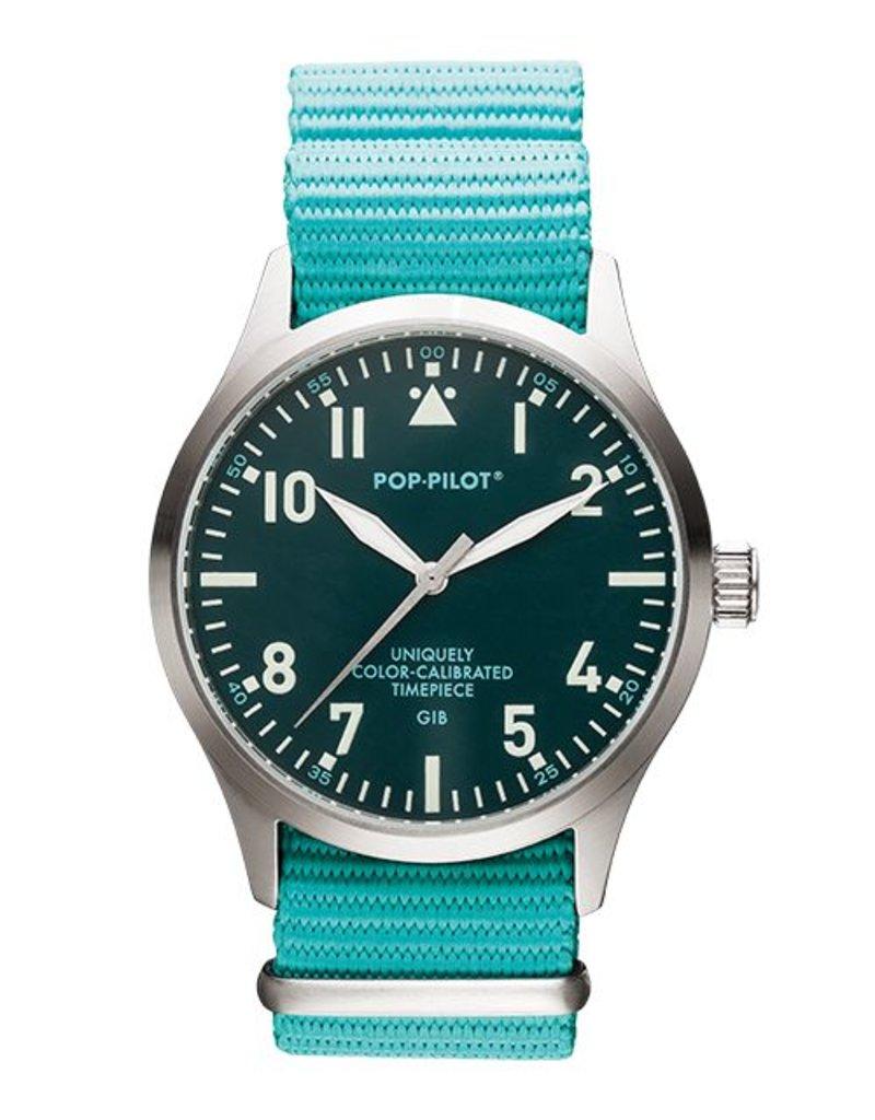 Horloge Pop Pilot classic sea green