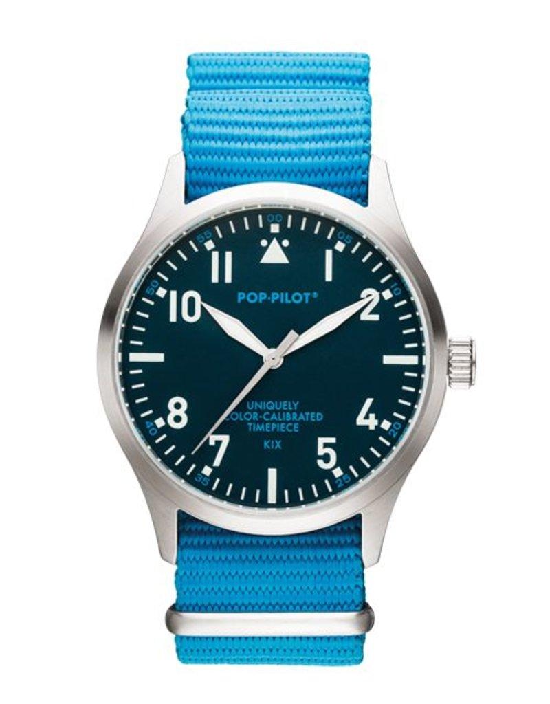 Horloge Pop Pilot classic blue