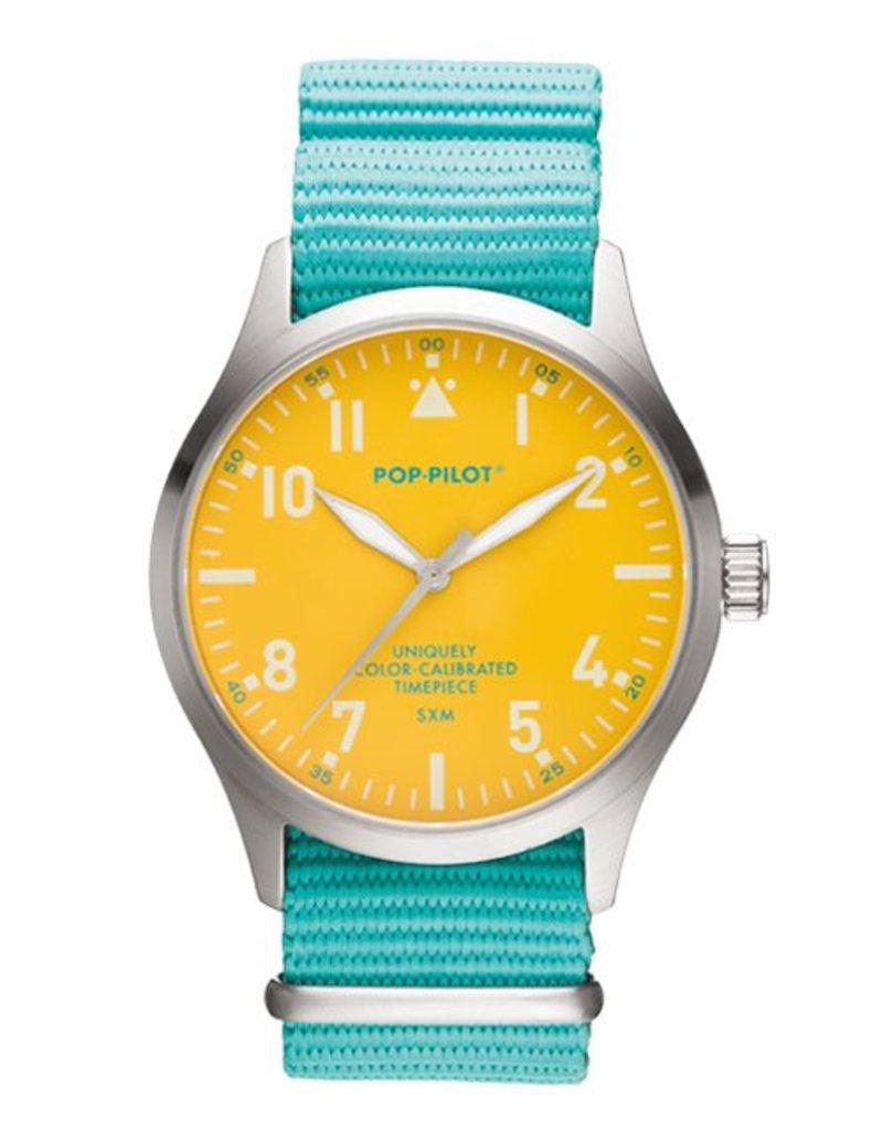 Horloge Pop Pilot holiday sea green