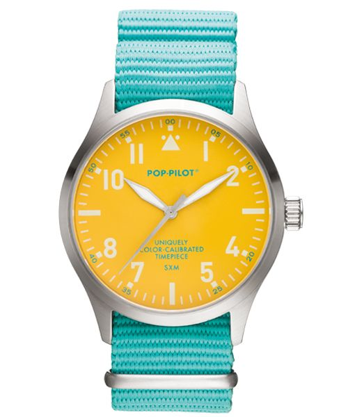 Horloge Pop Pilot holiday sea green