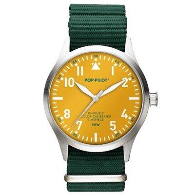 Horloge Pop Pilot jungle green