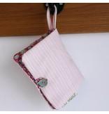 Opbergzakje haaraccessoires retro soft pink