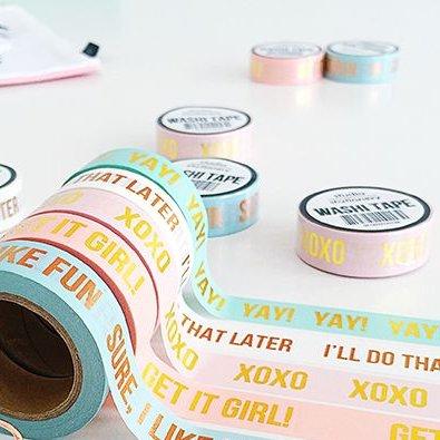Masking tape pink XOXO