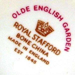 Antiek theekopje met kaars Royal Stafford