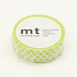 MT masking tape dot lime