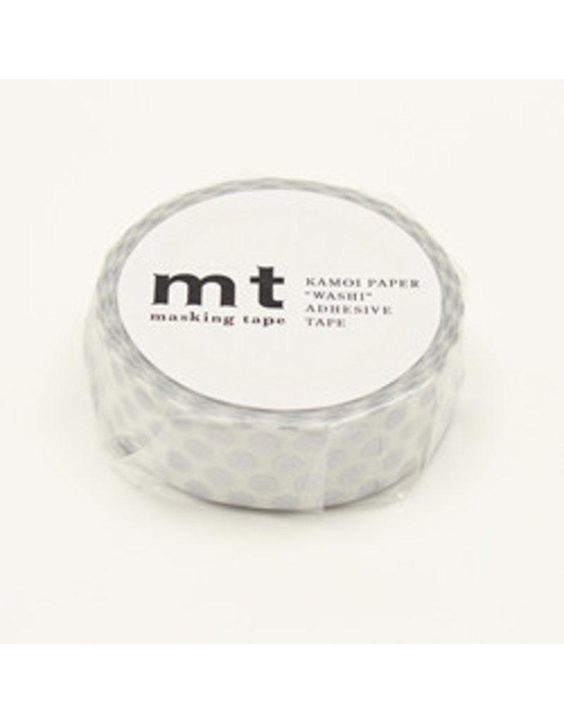 MT masking tape dot zilver