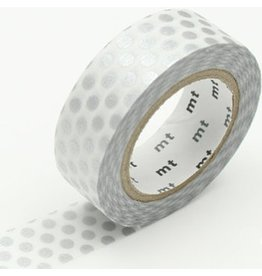 MT  MT masking tape dot zilver