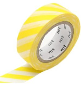 MT  MT masking tape stripe lemon