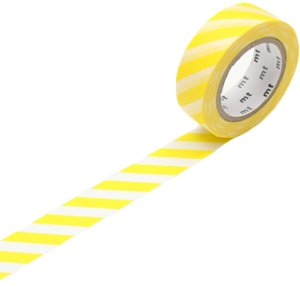 MT masking tape stripe lemon
