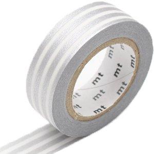 MT masking tape border zilver 2