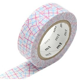 MT  MT masking tape check collage pink