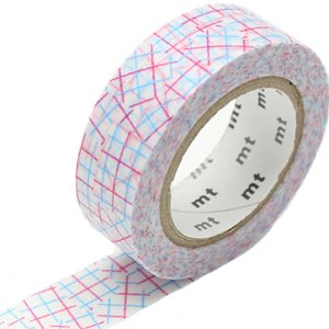 MT masking tape check collage pink