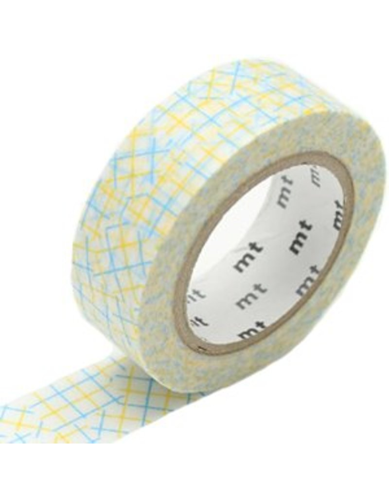 MT masking tape check collage yellow