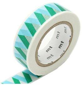MT  MT masking tape rickrack blue