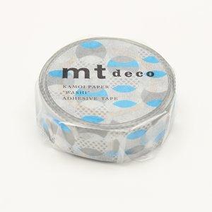 MT masking tape overlapped dot blue