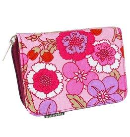 Huisteil creaties Practical purse Huisteil pink garden
