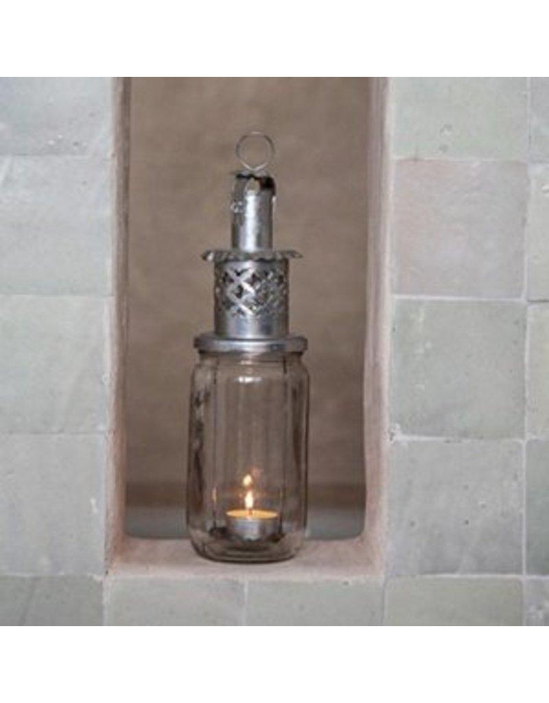 Lantaarn confiture zilver medium