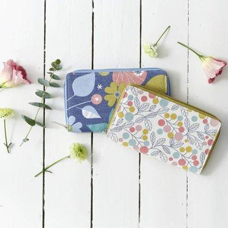 Portefeuille fleurs pastel