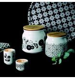 Porseleinen voorraadpot pattern noir