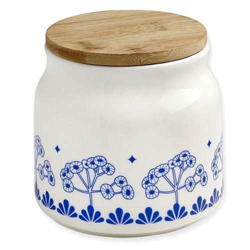 Porseleinen voorraadpot fleurs bleu