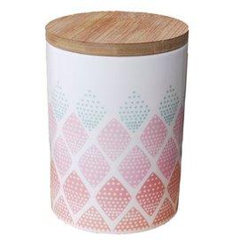 Mini Labo Porseleinen voorraadpot geometric
