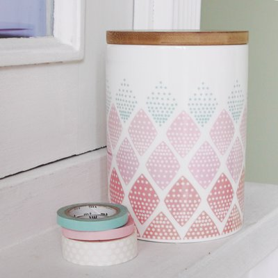 Porseleinen voorraadpot geometric