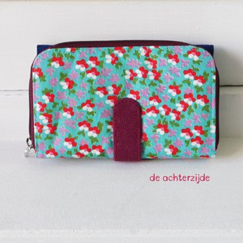Double printed beurs Huisteil Funky blue