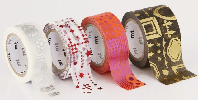 MT masking tape fab white animals