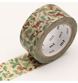 MT  MT masking tape Kerst forest