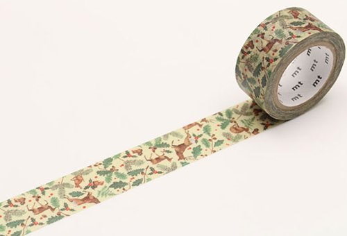MT masking tape Kerst forest