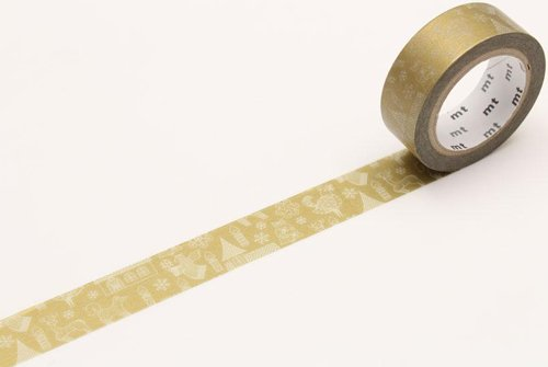 MT masking tape Kerst line drawing