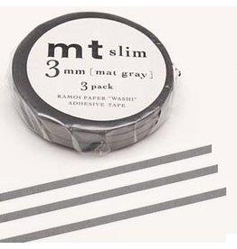 MT  MT masking tape slim set grijs 3 mm