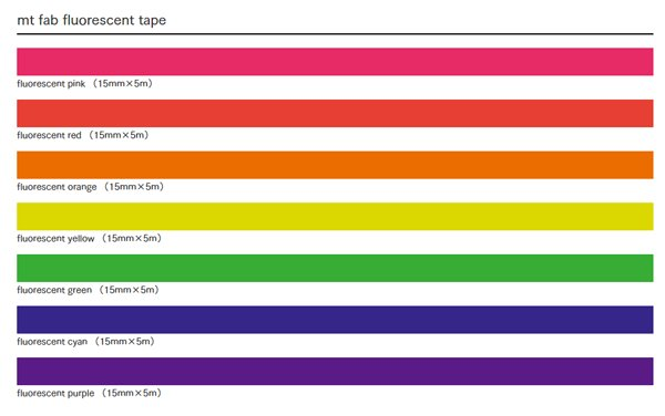 MT masking tape fab Fluor green