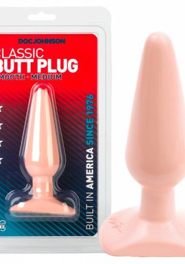 Doc Johnson Classic Butt Plug Smooth Medium Analplug