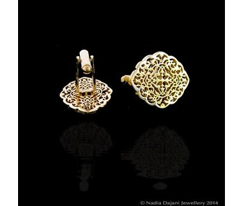 OVAL ARABESQUE CUFFLINKS