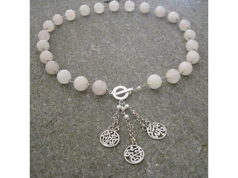 STONE NECKLACE WITH FALLAH KHAIR HAFETH