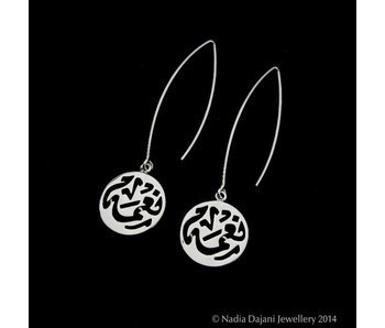 LONG OVAL HOOP NIMAH SILVER EARRINGS