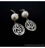 SILVER SALAM EARRINGS WITH PEARLS