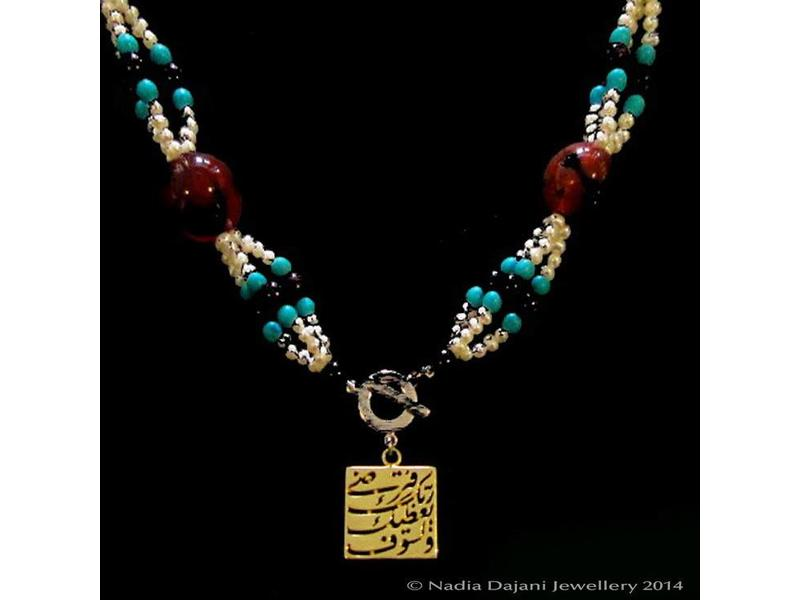EMBROIDERED NECKLACE WITH LISAWFA SQUARE