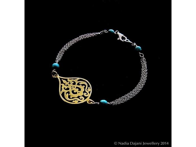 ARABESQUE TWO TONE BRACELET THIN CHAINS