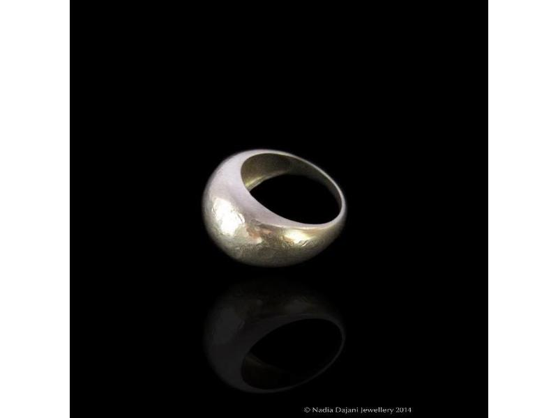 ROMAN HAMMERED RING SILVER