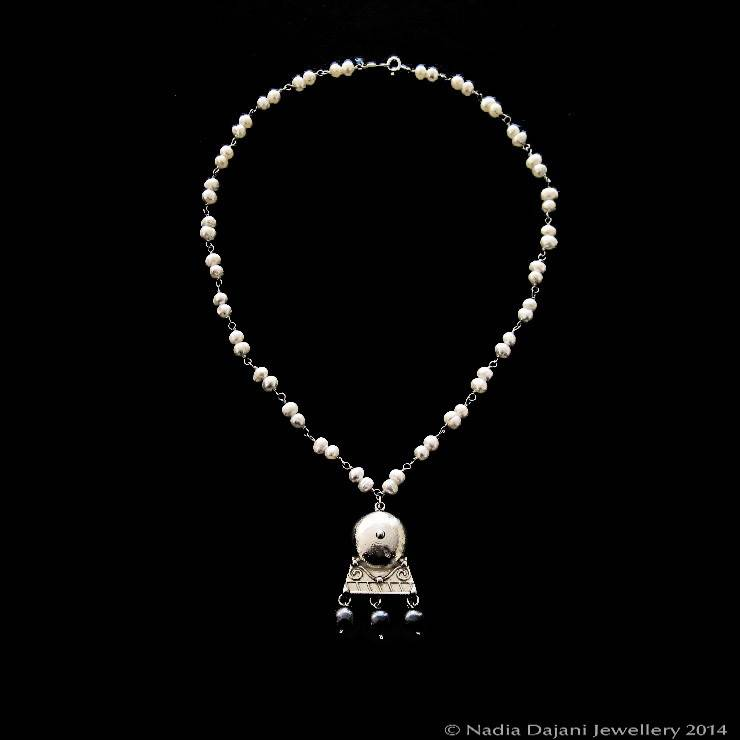 and roman necklace pearls dajani stone with pendant drops nadia